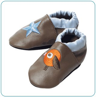 Tiny Tillia Brown Soft Shell Shoes (0-6 months)