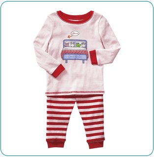 Tiny Tillia Pink Two-Piece Pajama Set (6-12 months)