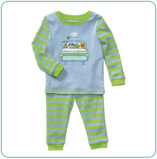 Tiny Tillia Blue Two-Piece Pajama Set (12-18 months)