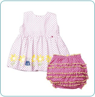 Tiny Tillia Spring Blooms Dress (3-6 months)