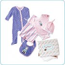 Tiny Tillia Pink 5-Piece Layette Set (0-3 months)
