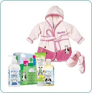 Tiny Tillia Pink Bathtime Gift Bundle - Personalizable (0-9 Months)