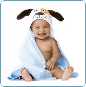 Tiny Tillia Duncan Dog Hooded Bath Towel