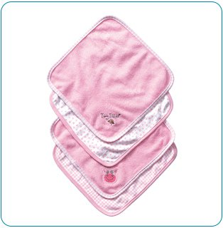 Tiny Tillia Dilly Pig 4-Piece Washcloth Set