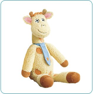 Tiny Tillia Sherpa Plush Toy - Ben Giraffe