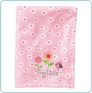 Tiny Tillia Pink Room Blanket - Personalizable