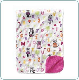 Tiny Tillia Pink ABC Gift Blanket