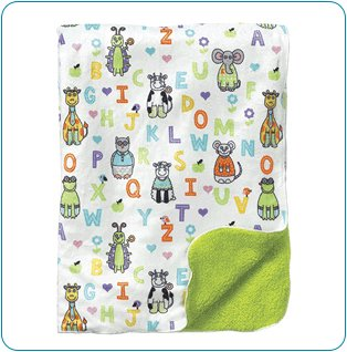 Tiny Tillia ABC Green Gift Blanket