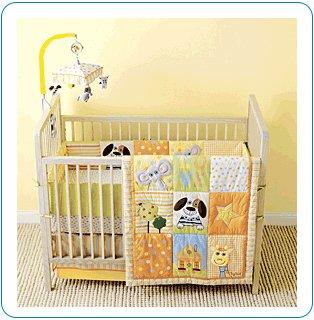 Tiny Tillia 4-Piece Yellow Crib Bedding Set