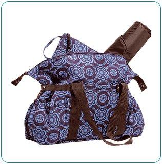 The Tiny Tillia Essential Diaper Bag: Blue Florette - Avon