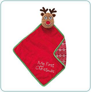 Tiny Tillia Reindeer Huggable Blanket - Personalizable
