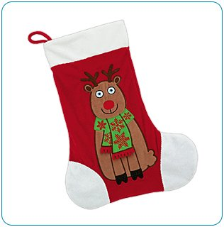 Tiny Tillia Reindeer Stocking