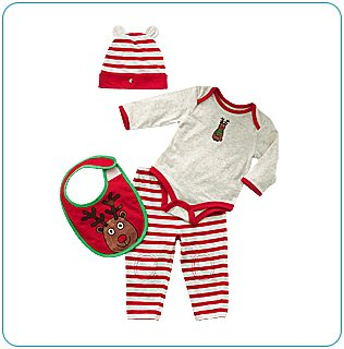 Tiny Tillia Reindeer Layette Set (3-6 months)