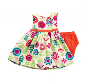 0-3 Months: Tiny Tillia Flowers in Bloom Baby Spring Dress