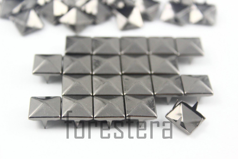 100 10mm Gunmetal Pyramid Studs DIY Studs Metal Studs Craft Studs Spike (GP10)