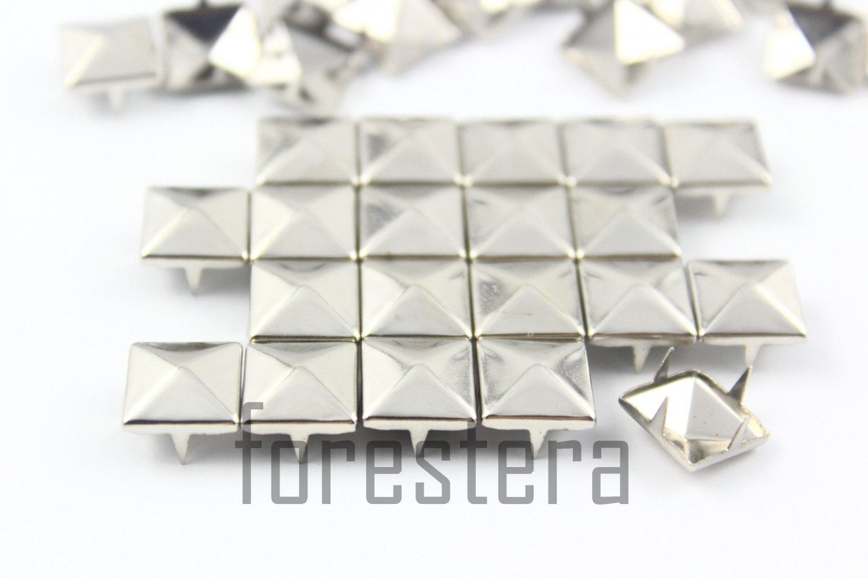 100 10mm Silver Pyramid Studs DIY Studs Metal Studs Craft Studs Spike (SP10)