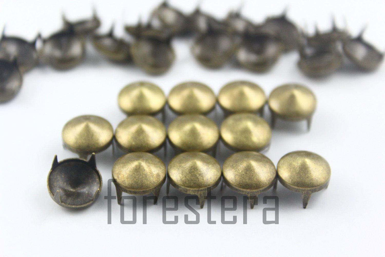 100 10mm Antique Brass Cone Conical Studs DIY Studs Metal Studs Craft Studs Spike (BC10)