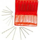 15 Piece Metric Drill Bit Set .30 to 1 MM Hobby Mini