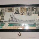 USS Des Moines Heavy Cruiser Photo's Anchor Korea War