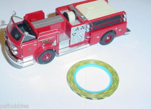 1/16 Yellow & Black Caution Tape 1/43 1/32 Diecast Mack Peterbilt Ford Truck