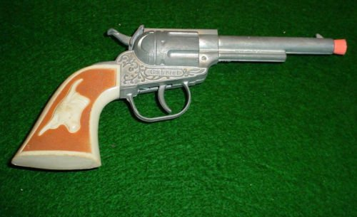 Gabriel Six Shooter Western Cap Gun Pistol Steer Handle Paper Caps Colt Toy