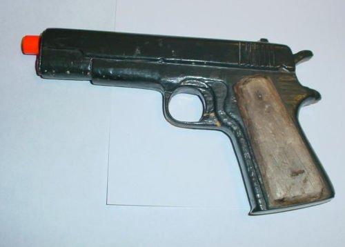 Colt .45 1911 WWII Training Pistol Trench Art Wood Gun Folk Art 1940's Carving