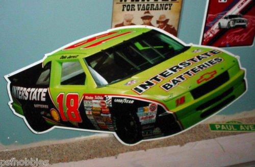 "47"" x 23"" HUGE Tin Interstate Batteries NASCAR Bar Sign Dale Jarrett Chevy #18"
