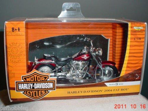 Ertl Harley Davidson 2004 Fatboy Motorcycle 1:18 Scale Diecast Toy Bike Hog