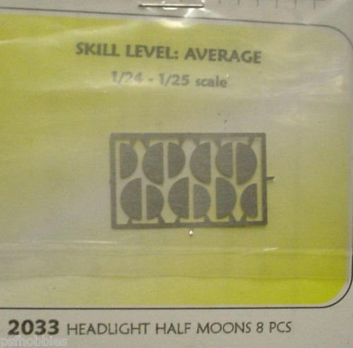 Detail Master Round Headlight Half Moons Photo Etched For Model Cars 1/25 1/24