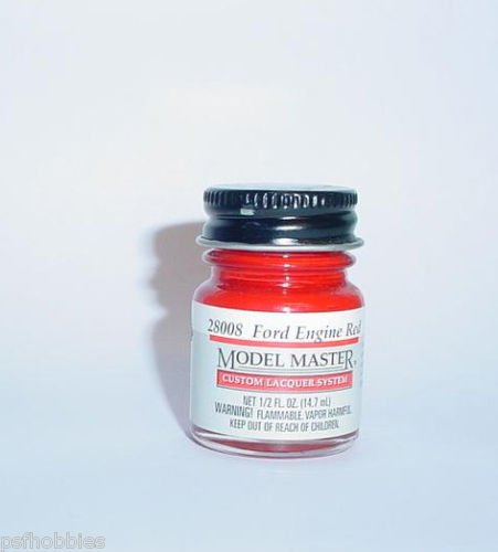 Testors Model Master Lacquer Ford Engine Red 1/2 oz Plastic Model Car Paint