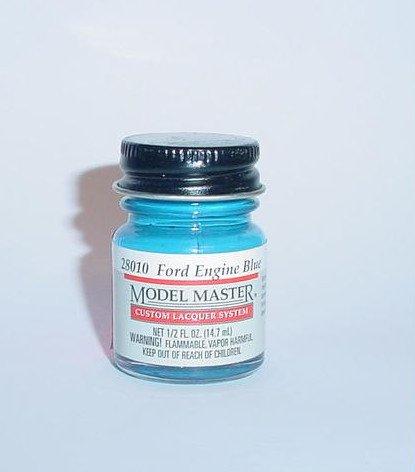 Testors Model Master Lacquer Ford Engine Blue 1/2 oz Plastic Model Car Paint