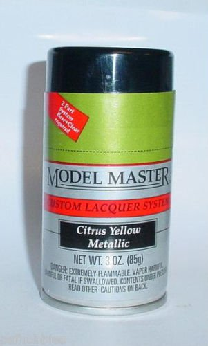 Testors Model Master Citrus Yellow Metallic Lacquer 3oz Spray Model Car Paint
