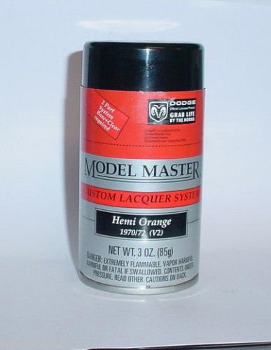 Testors Model Master Hemi Orange Plymouth Lacquer 3oz Spray Can Model Car Paint
