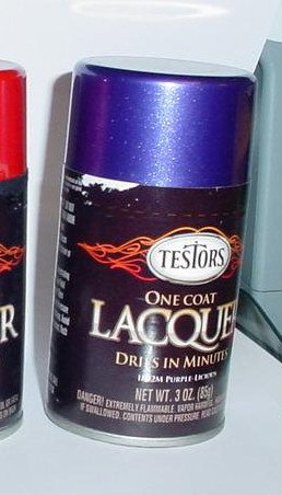 Testors One Coat Lacquer Purple Licious 3oz Spray Can Hot Rod Model Cars