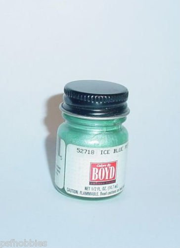 Testors Boyd 1/2 oz Bottle Boyds Ice Blue Pearl Enamel Plastic Model Paint