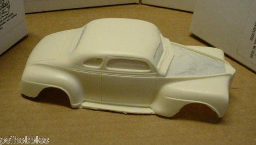Jimmy Flintstone Resin 1941 Plymouth Chopped Custom Model Car Body for AMT 1/25