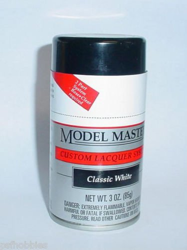Testors Model Master Classic White  Lacquer 3oz Spray Can Model Car Paint