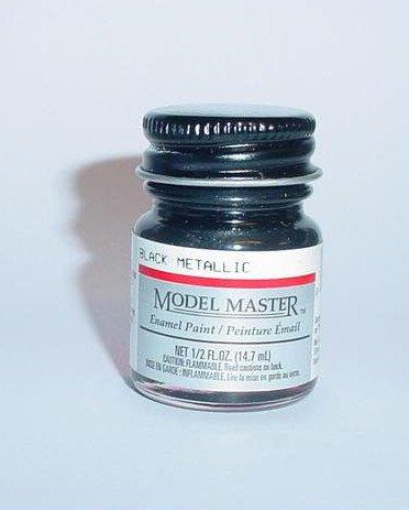 Testors Model Master 1/2 oz Black Metallic Plastic Model Car Paint