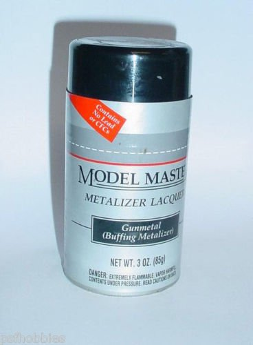 Testors Model Master Gunmetal Buffing Metalizer Lacquer  Spray Can Model Paint