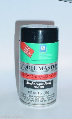 Testors Model Master Bright Aqua Pearl Lacquer 3oz Spray Can Model Car Paint