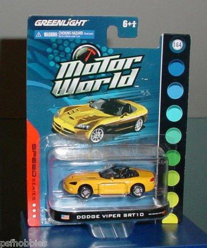 Greenlight Speed Series Motor World Dodge Viper SRT10 Diecast Toy Car 1/64 Yello