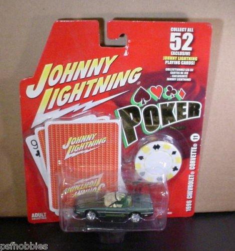 Johnny Lightning JL Poker Series 1996 Corvette Convertible Diecast Toy Car 1/64