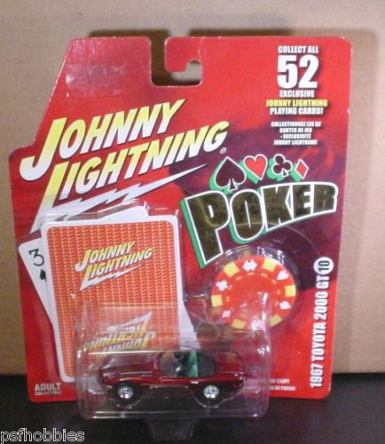 Johnny Lightning JL Poker Series 1967 Toyota 2000 GT Diecast Toy Car 1/64