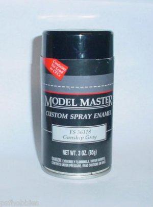 testors gunship gray 3oz spray can enamel plastic model master paint. Black Bedroom Furniture Sets. Home Design Ideas