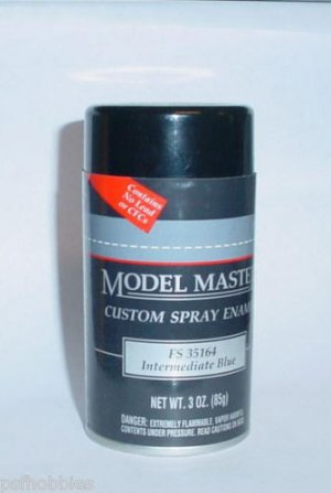 intermediate blue 3oz spray can enamel plastic model paint master mm. Black Bedroom Furniture Sets. Home Design Ideas