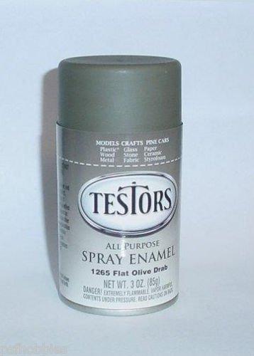 Testors Flat Oilve Drab 3oz Spray Can Enamel Plastic Model Paint Master MM
