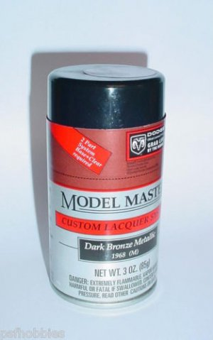 Testors Model Master Dark Bronze Metallic Lacquer 3oz Spray Can Model Paint