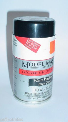 Testors Model Master White Vinyl Top Lacquer 3oz Spray Can Model Paint