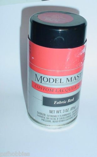 Testors Model Master Lacquer Paint Fabric Red 3 oz Spray Can Model Car Paint