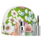 Clinique 7 Pc Gift Set, Cosmetic Bag, All About Eyes Serum, Repairwear Intense,